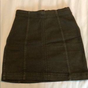 Free People Olive Skirt
